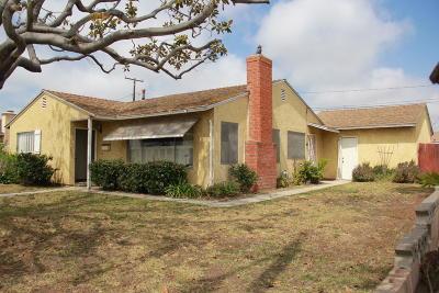 Oxnard Single Family Home For Sale: 3110 S J Street