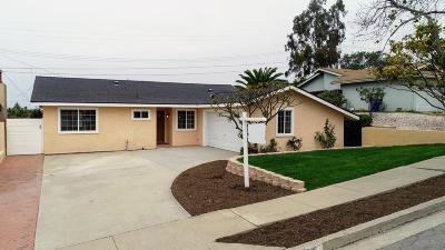 Ventura Single Family Home For Sale: 2241 Crestmont Drive