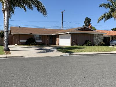 Oxnard Single Family Home For Sale: 1341 Elder Street
