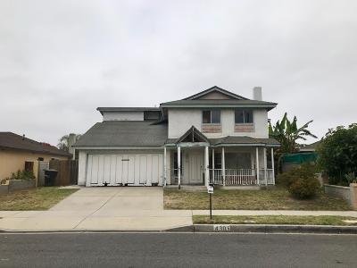 Oxnard Single Family Home For Sale: 4305 San Juan Avenue