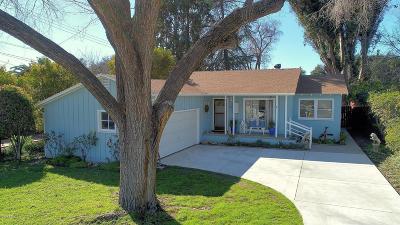 Ojai Single Family Home For Sale: 1003 Drown Avenue