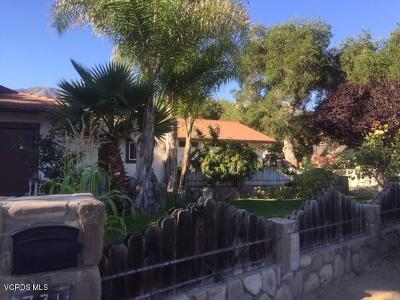 Ojai Single Family Home For Sale: 731 Fairview Road