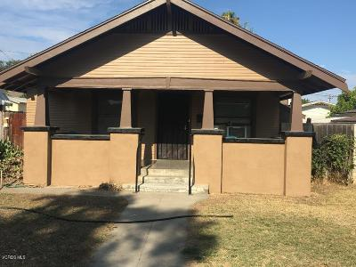 Fillmore Single Family Home For Sale: 410 Saratoga Street