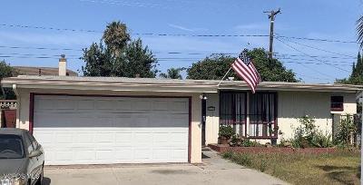 Oxnard Single Family Home Active Under Contract: 1005 Saratoga Street