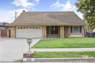 Oxnard Single Family Home Active Under Contract: 1040 Junewood Court