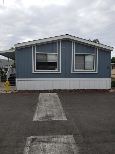 Santa Paula Mobile Home For Sale: 15433 W Telegraph Road #34