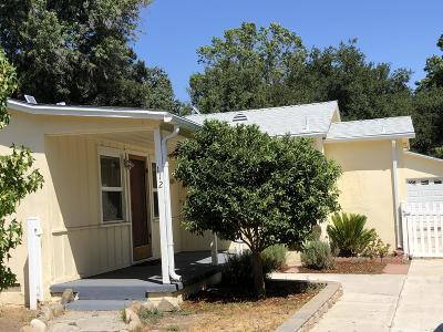 Ojai Single Family Home Active Under Contract: 112 Fulton Street