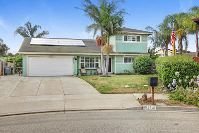 Oxnard Single Family Home Active Under Contract: 3410 Pier Walk