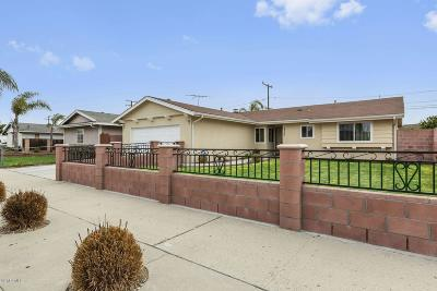 Oxnard Single Family Home Active Under Contract: 2740 Jackson Street