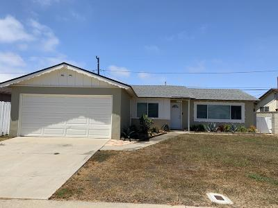 Oxnard Single Family Home For Sale: 3411 S E Street