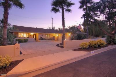 Ojai Single Family Home For Sale: 501 Vallerio Avenue