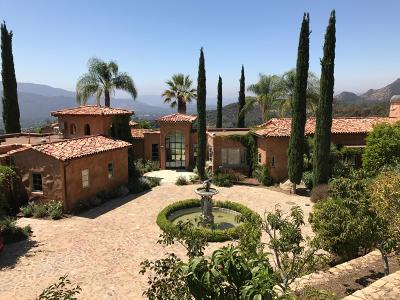 Ojai Single Family Home For Sale: 2661 Ladera Road