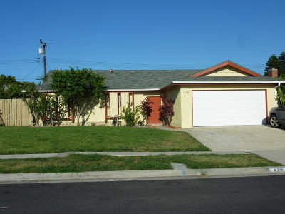 Ventura Single Family Home For Sale: 430 S Crocker Avenue
