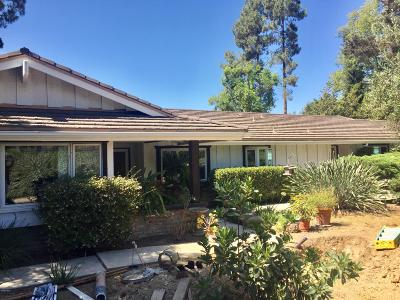 Camarillo Single Family Home Active Under Contract: 1791 Ramona Drive