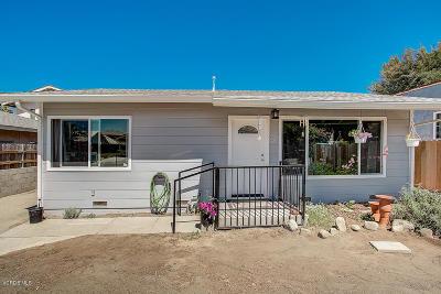 Ventura Single Family Home For Sale: 39 Holt Street