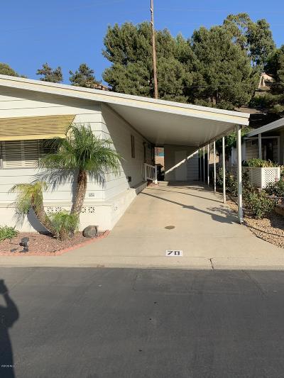 Camarillo Single Family Home For Sale: 70 Caleta Drive #166