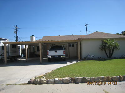 Ventura County Single Family Home Active Under Contract: 1156 El Paseo Street