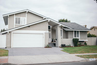 Camarillo Single Family Home Active Under Contract: 1475 Gracia Street