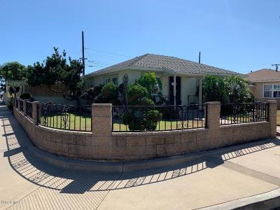 Oxnard Single Family Home For Sale: 654 E Juniper Street