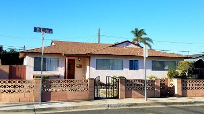 Oxnard Single Family Home For Sale: 1449 W Date Street
