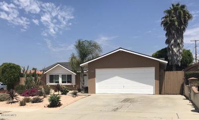 Camarillo Single Family Home Active Under Contract: 1325 Sevilla Street