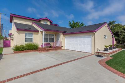 Port Hueneme Single Family Home For Sale: 837 E Clara Street