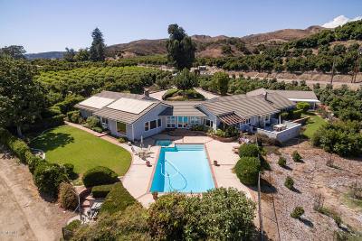 Santa Paula Single Family Home For Sale: 13922 Foothill Road