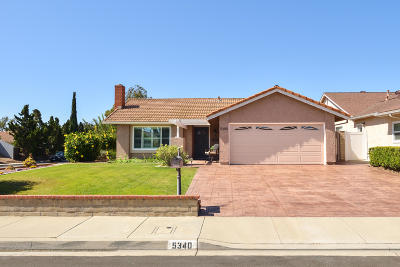 Camarillo Single Family Home For Sale: 5340 Willow View Drive