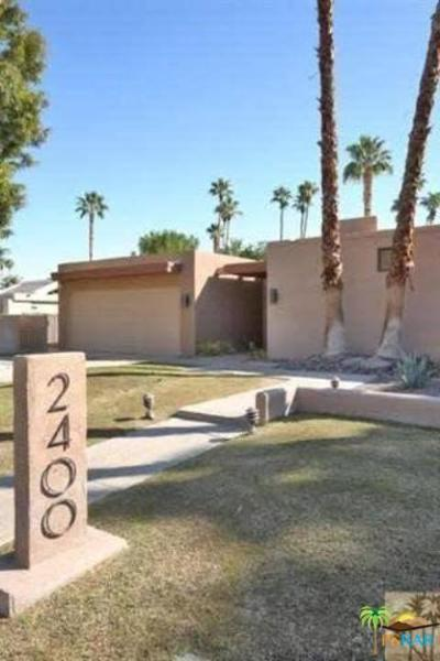 Palm Springs Single Family Home For Sale: 2400 Caliente Drive