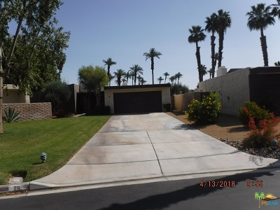 Rancho Mirage Single Family Home For Sale: 26 Kevin Lee Lane