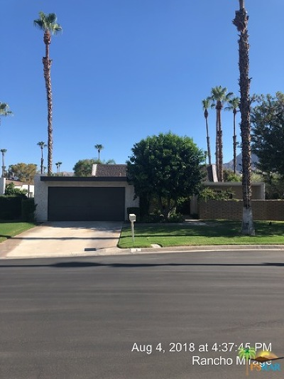 Rancho Mirage Single Family Home Contingent: 9 Kevin Lee Lane