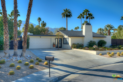 Palm Springs Single Family Home For Sale: 563 N Sunset Way