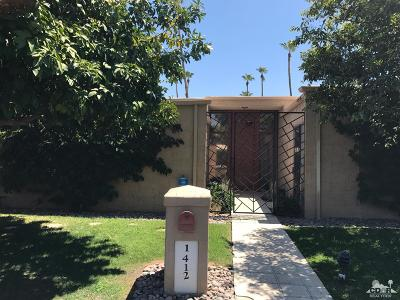 Rancho Mirage Single Family Home For Sale: 1412 Tamarisk West Street #3
