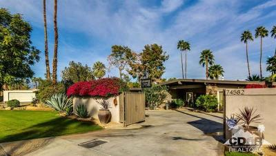 Palm Desert Single Family Home For Sale: 74582 Fairway Drive