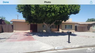 Indio Single Family Home For Sale: 43711 Towne Street