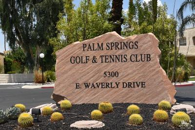 Palm Springs Condo/Townhouse For Sale: 5300 East Waverly Drive #H-14