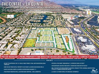 La Quinta Residential Lots & Land For Sale: La Quinta Centre Dr