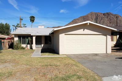 La Quinta Single Family Home Contingent: 52790 Avenida Mendoza