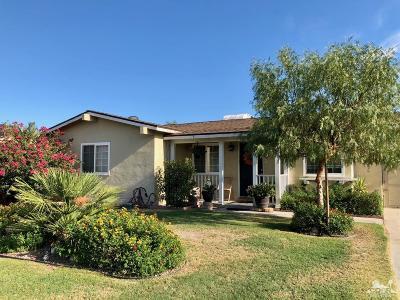 Indio Single Family Home Contingent: 82193 Crest Avenue