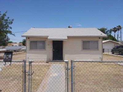 Blythe Single Family Home For Sale: 521 West Nevada Street