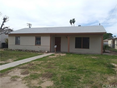 Blythe Single Family Home For Sale: 321 N Palm Drive