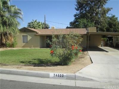 Palm Desert Single Family Home For Sale: 74022 San Marino Circle