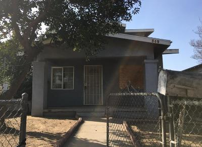 Fresno CA Single Family Home For Sale: $89,900