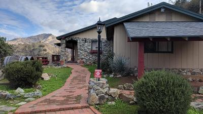 Tollhouse CA Single Family Home For Sale: $259,000