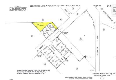 Fowler CA Residential Lots & Land For Sale: $70,000