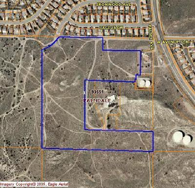 Palmdale CA Residential Lots & Land For Sale: $1,100,000