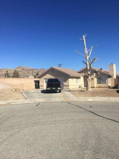 Rosamond Single Family Home For Sale: 3472 Granite Court