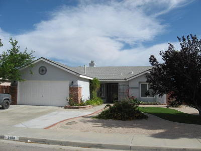 Rosamond Single Family Home For Sale: 1408 Bradford Avenue
