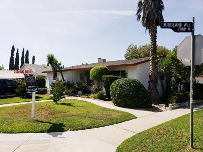 North Hollywood Single Family Home For Sale: 7027 Goodland Avenue