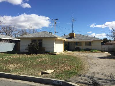 Lancaster Single Family Home For Sale: 45360 Lostwood Avenue
